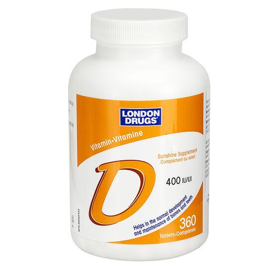 London Drugs Vitamin D 400iu - 360's