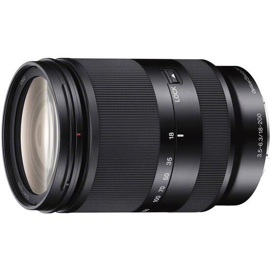 Sony 18-200mm f3.5-6.3 OSS E-Mount Zoom Lens - Black - SEL18200LE