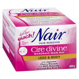 Nair Hair Remover Cire Devine Resin Wax - Leg & Body - 400g