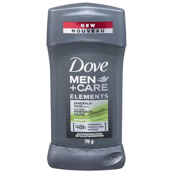 Dove Men+Care Elements Minerals+Sage Antiperspirant Stick - 76g