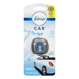 Febreze Car Air Freshener Vent Clip- Linen & Sky - 2ml