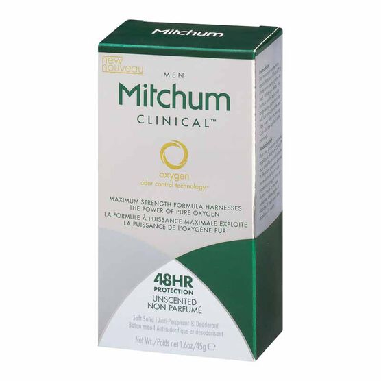 Mitchum Men's Clinical Unscented Deodorant - 45g