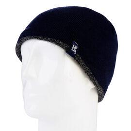 Heat Holders Men's Contrast Trim Hat - Navy