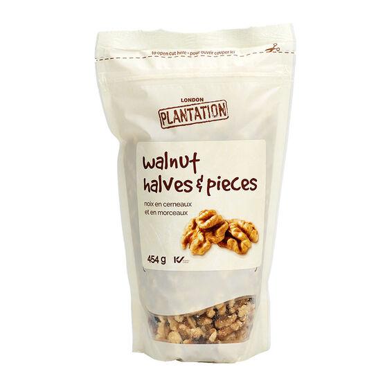 London Plantation Walnut Halves & Pieces - 454g