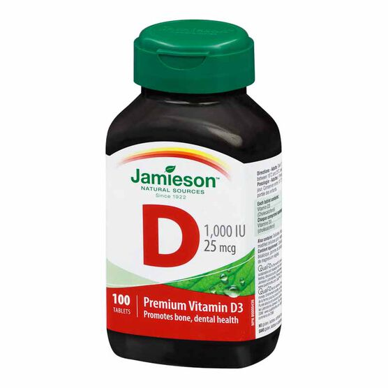 Jamieson Vitamin D 1,000 IU - 100's