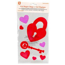 Valentine's Gel Magic Clings - Assorted
