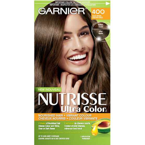 Garnier Nutrisse Ultra Color Permanent Hair Colour - 400 Dark ...