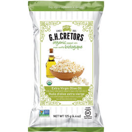 G.H. Cretors Organic Popped Corn - Extra Virgin Olive Oil - 125g