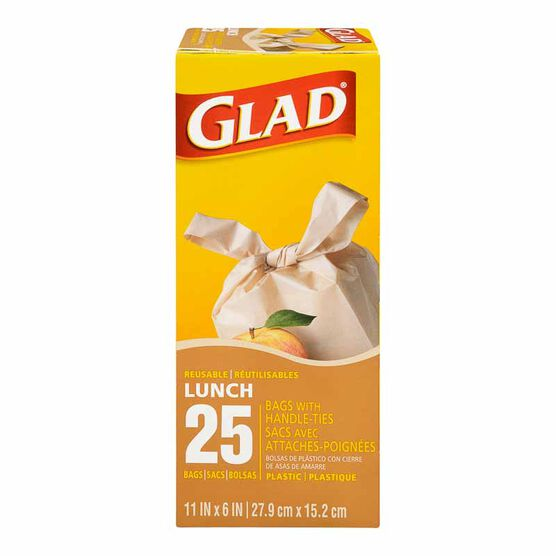 Glad Handle Tie Lunch Bags - 25's