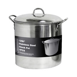 Gourmet Tools Stock Pot with Dome Lid - 11.4L
