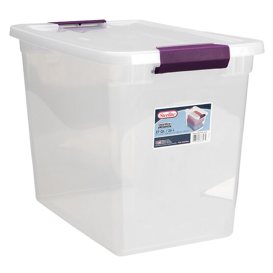 Sterilite ClearView Latch™ Box - 26L
