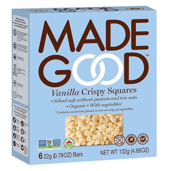 Made Good Crispy Squares - Vanilla - 6 Pack