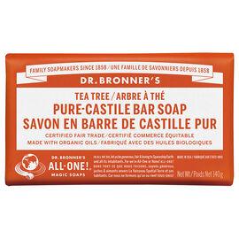 Dr Bronner's Pure Castile Bar Soap - Tea Tree - 140g