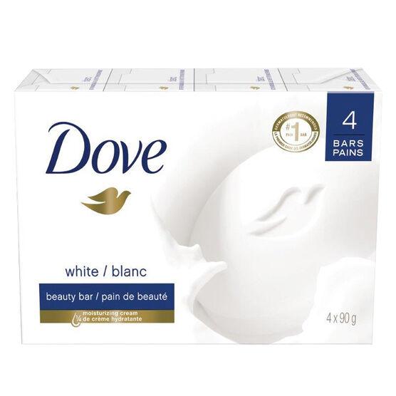 Dove White Beauty Bar - 4 x 90g