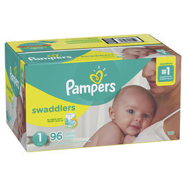 Pampers Swaddlers Diapers - Size 1 - 96's
