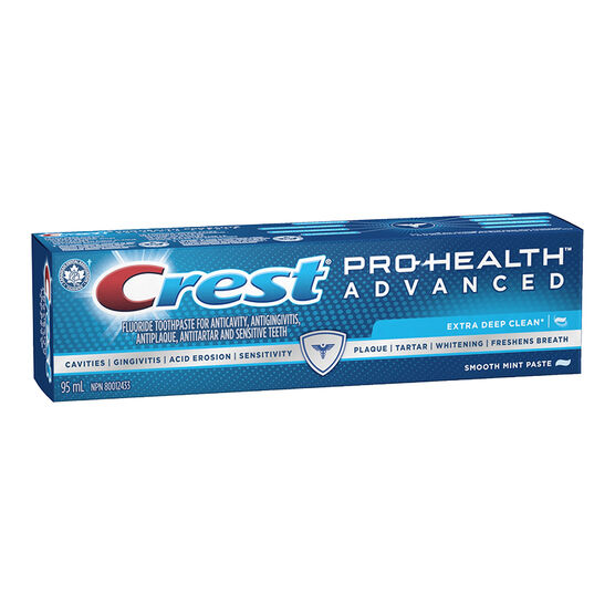 Crest PRO-Health Advanced Extra Deep Clean Toothpaste - Smooth Mint Paste - 95ml