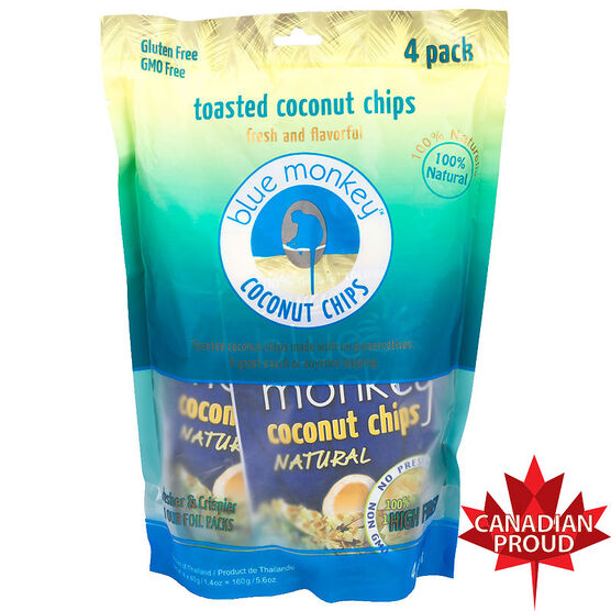 Blue Monkey Coconut Chips - 4 x 40g