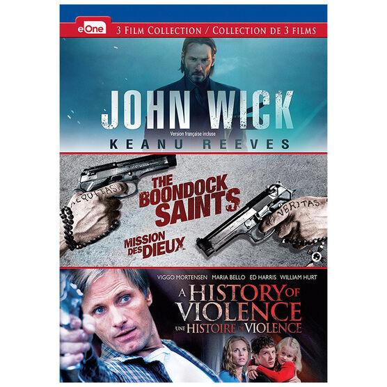 John Wick/The Boondock Saints/A History of Violence - DVD