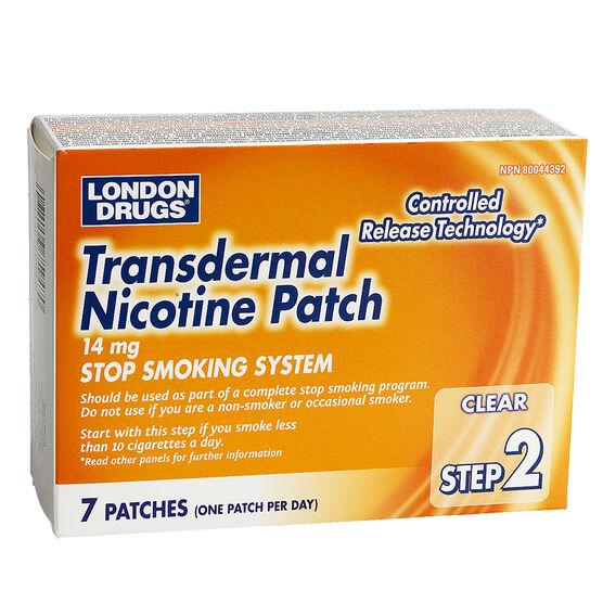 London Drugs Transdermal Nicotine Patch Step 2 - 14mg - 7's