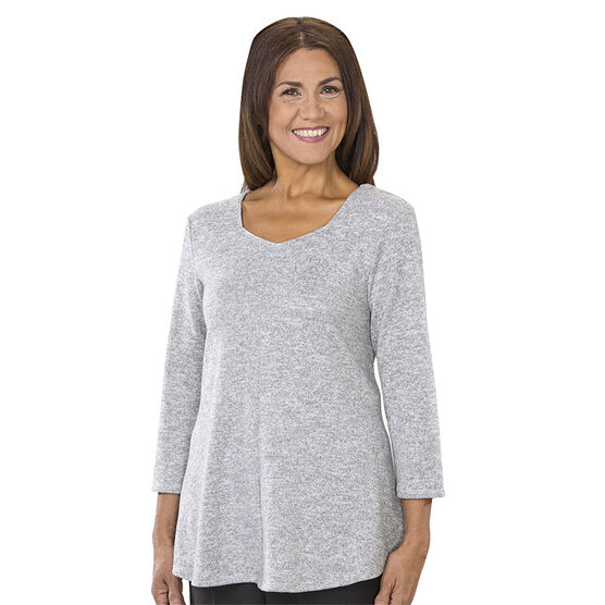 Silvert's Diamond Neck Open Back Sweater - XS - XL