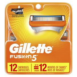 Gillette Fusion5 Razor Blades - 12's
