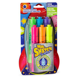 Mr. Sketch Scented Chisel Markers - Intergalactic Neon - 6 pack