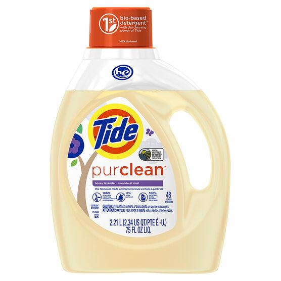 Tide HE PurClean Laundry Detergent - Honey Lavendar - 2.21L/48 Uses