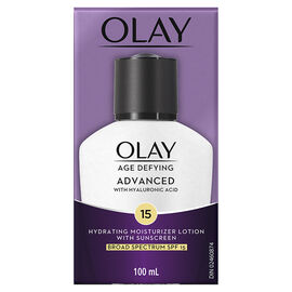 Olay Age Defying Advanced Hydrating Mositurizer Lotion - SPF 15 - 100ml