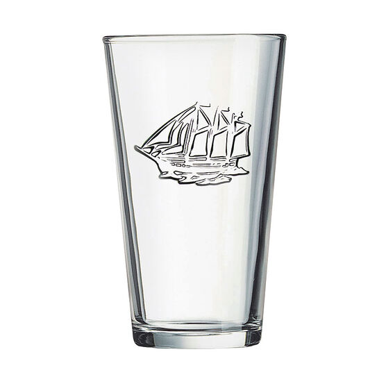 Luminarc Ship Stamped Pub Glass - 15.75oz