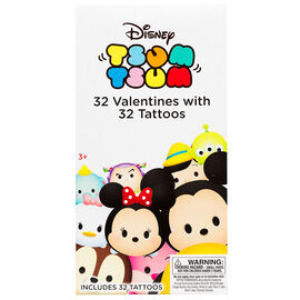 Valentine Deluxe Cards with Tattoos - Tsum Tsum - 32's