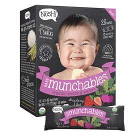 Nosh Baby Munchables - Strawberry + Beet - 54g/26 Wafers