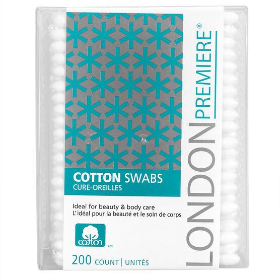 London Premiere Cotton Swabs - 200's