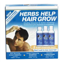 Herbs Help Hair Grow - 3 Step System