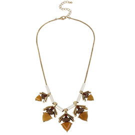 Haskell Stone Statement Necklace - Multi