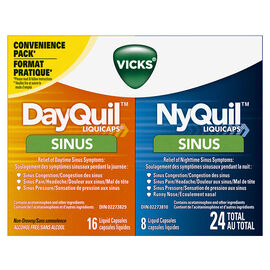Vicks DayQuil & NyQuil Sinus Convenience Pack - 24's