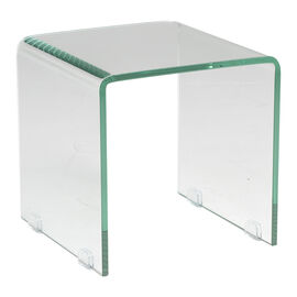 London Drugs Tempered Glass Side Table - 34 x 34 x 34cm