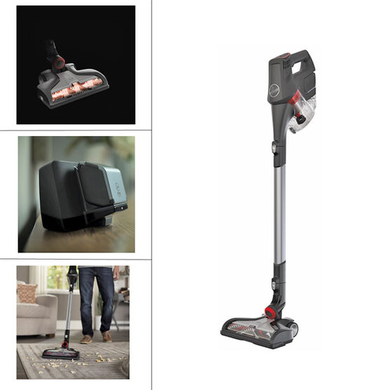 Hoover Fusion Cordless Vacuum Grey Red Bh53100ca