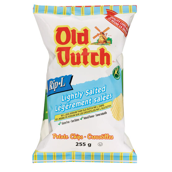 Old Dutch Rip-L Chips - Lightly Salted - 255g