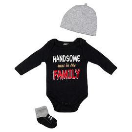 Baby Mode Handsome Runs 3-Piece Onesie Set - 11043 - Assorted