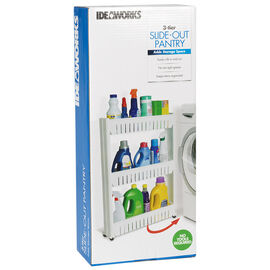 Ideaworks Slide Out Storage Tower - White