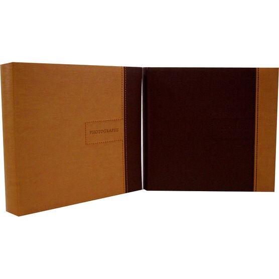 Pacific Trendz Classic 200 Faux Leather Photo Album Slip-Ins - 2UP/4X6