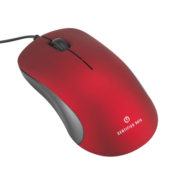 Certified Data M40 Deluxe Mouse - Red