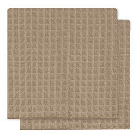 Kitchenworks Waffle Dish Cloth - Taupe - 2 pack