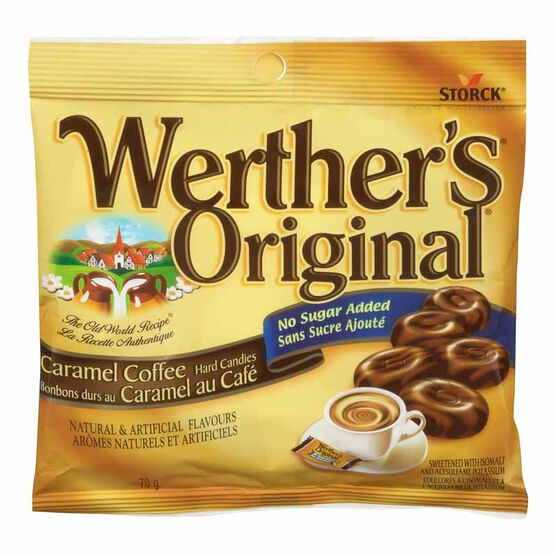 Werther's Original No Sugar Added Caramel Coffee Hard Candies - 70g