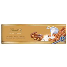 Lindt Swiss Classic Gold Chocolate Bar - Hazelnut - 300g