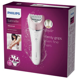 Philips Satinelle Advanced Wet and Dry Epilator - White/Pink - BRE640/00