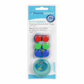 PharmaSystems Putty Buddies Floating Silicone Ear Plugs - 6's
