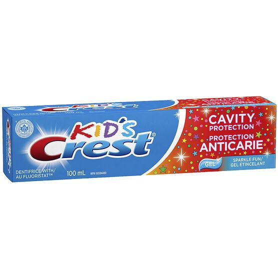 Crest Kids Toothpaste - Sparkle Fun Gel - 100ml