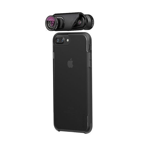 Olloclip Core with Case for iPhone 7/7 Plus - Black/Clear - OC0000216EU