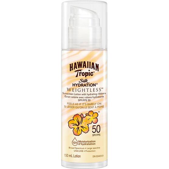Hawaiian Tropic Silk Hydration Weightless Sunscreen Lotion - SPF50 - 150ml
